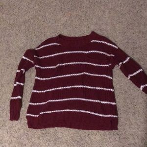 Red and white American eagle sweater